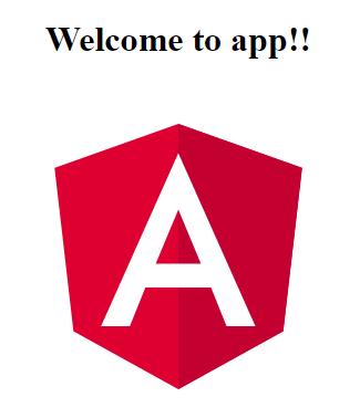 angular app running