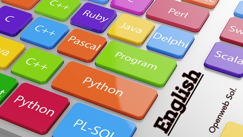 Why all the major programming languages are written in English?