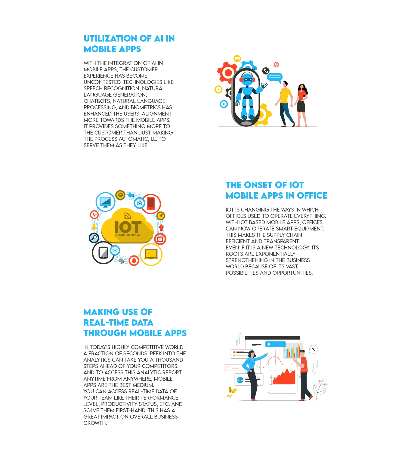 infographic showing how how mobile apps can enhance your enterprise digital transformation
